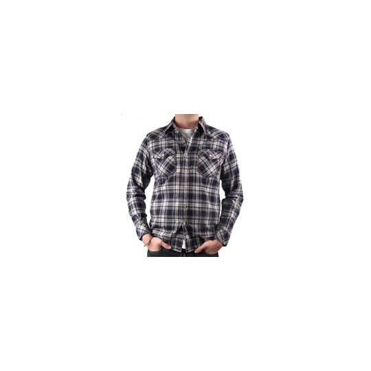 Mini Herringbone Medium Weight Flannel Western Shirt - Mark III