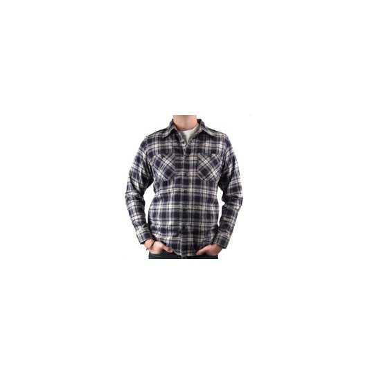 Mini Herringbone Medium Weight Flannel Work Shirt
