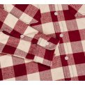 Ultra Heavy Buffalo Check Work Shirt - Maroon/Cream