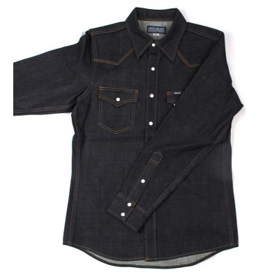 12oz New Raw Indigo Denim Western Shirt