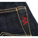 17oz Organic Cotton/Natural Indigo Slim Straight Cut Jeans