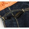 17oz Organic Cotton/Natural Indigo Slim Straight Cut