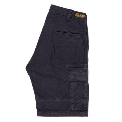 Swedish Serge Camp Shorts - Olive and Black