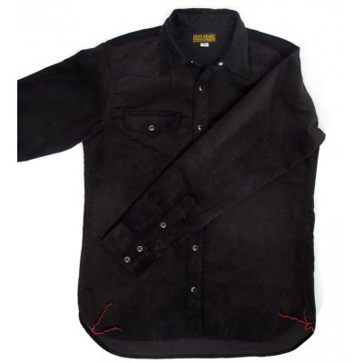 8oz Super Black Double Weave Needlecord Western Shirt