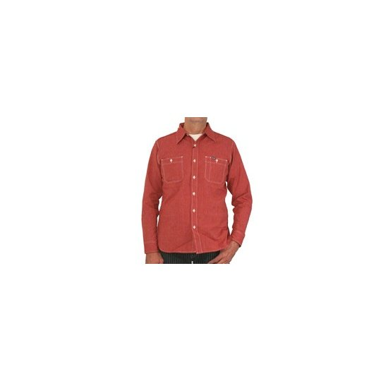 Chambray Work Shirt - Red (Salt & Cayenne)