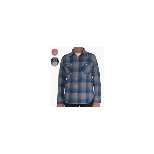 Smoky Check Flannel Work Shirt