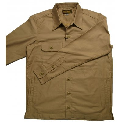 Heavy Cotton Satin Military Shirts - Olive and Khaki