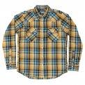 Blue or Yellow Check 10oz Mini Herringbone Flannel Western
