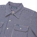 Indigo 12oz Hickory Stripe Short-Sleeved Work Shirt