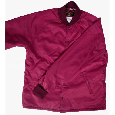Fleece Lined Nylon Button Up Windbreaker