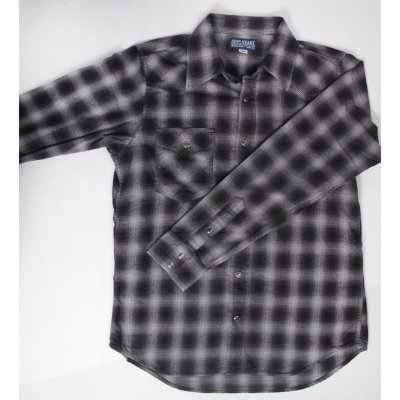 Metallic Thread Flannel Western - Black