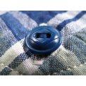 Lightweight Cotton Short Sleeved Work Shirt - Blue & Green