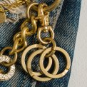 Brass Wallet Chain, Hook and Rings