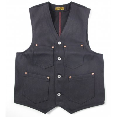 21oz Grey Denim/Black Duck Work Vest