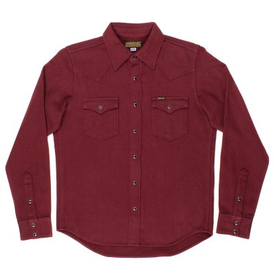 Burgundy Ultra Heavy Plain Flannel Western