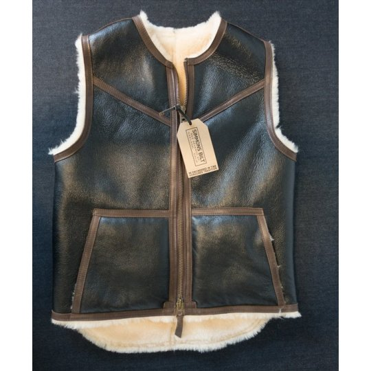 IH/Simmons Bilt C3 Style Crew Neck Shearling Vest