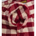 Ultra Heavy Buffalo Check Western Shirt - Maroon/Cream