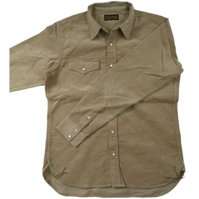 8oz Double Weave Needlecord Western Shirt