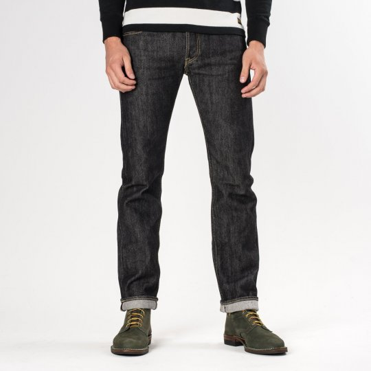 Black 21oz Denim Super Slim Tapered