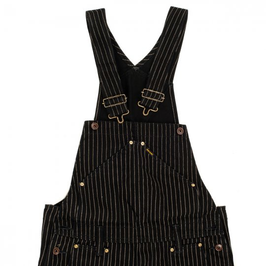 Black Wabash Double Knee Overalls