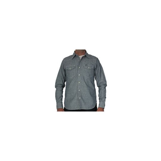 Pale Blue Mock Twist Chambray Western