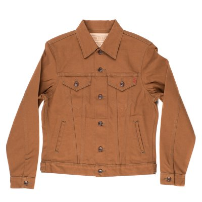 IH-2526J | Iron Heart 17oz Brown Cotton Duck Modified Type III Jacket