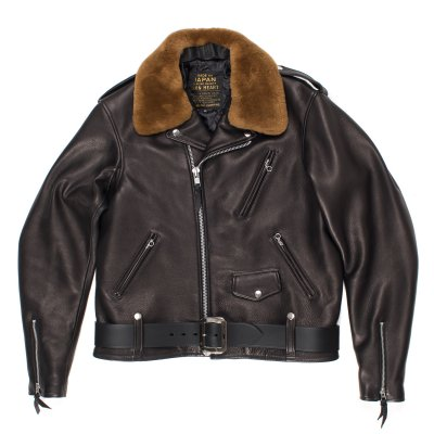 "Black Cowhide ""One Star"" Jacket"