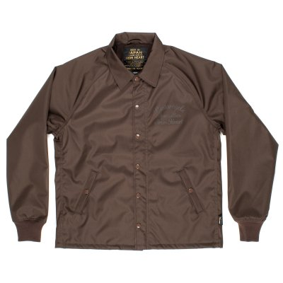 Brown Fleece Lined Cordura Windbreaker