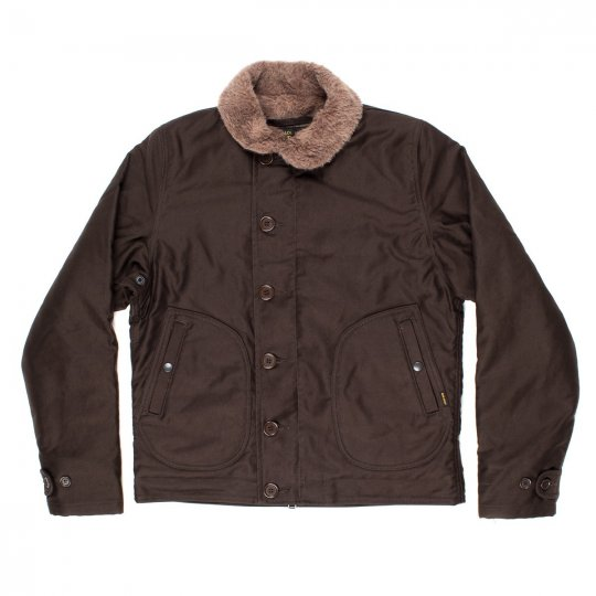Brown, Black or Khaki Alpaca Lined Whipcord N1 Deck Jacket