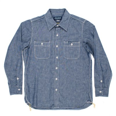 Indigo 10oz Selvedge Chambray Work Shirt