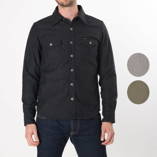 Charcoal Woollen Work Shirt