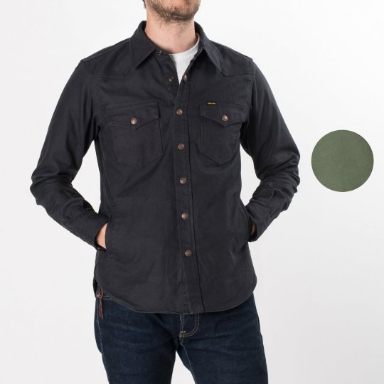 Black 12oz Cotton Serge CPO Style Shirt