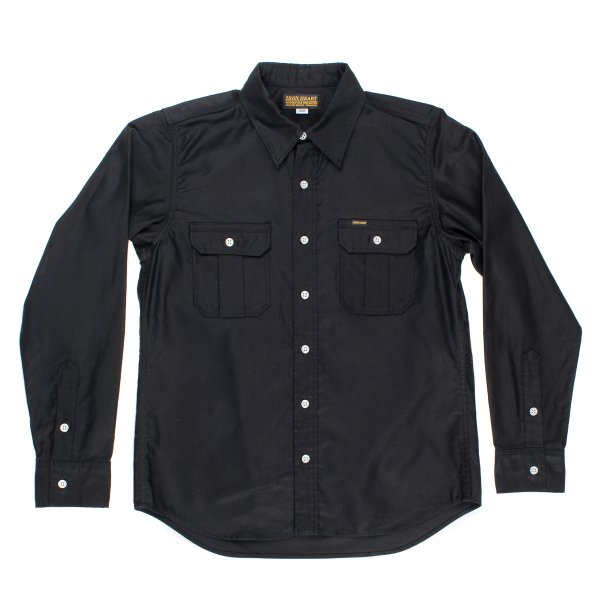 IHSH-160 | Black or Olive Super-Tough Cotton Military Work Shirt