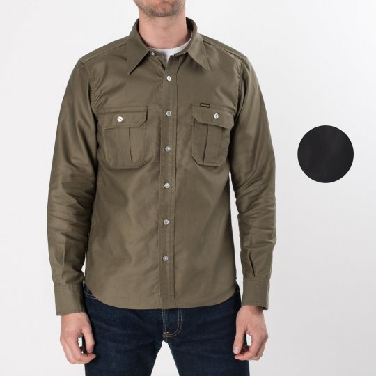 Olive Super-Tough Cotton Military Work Shirt