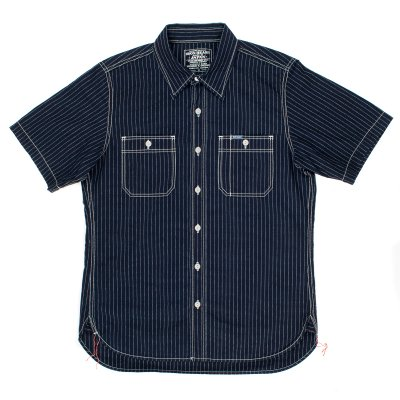 Indigo/Indigo Pinstripe 7oz Chambray Short-Sleeved Work Shirt