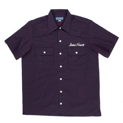 Black or Navy Striped Mechanic's Shirt