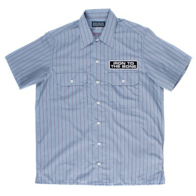 Light Blue Striped Mechanic's Shirt