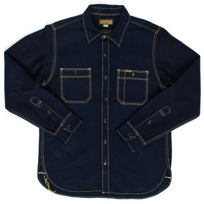 Indigo/Indigo 12oz Selvedge Denim Work Shirt
