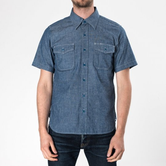 US Navy Style 6.5oz Chambray Short-Sleeved Shirt