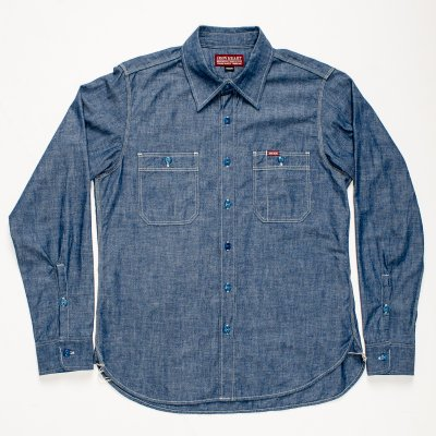 Natural Indigo 6oz Chambray Work Shirt