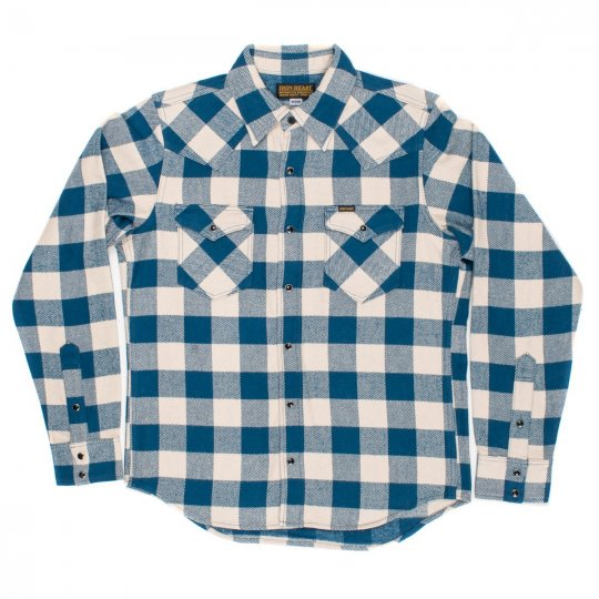 Blue/Cream Ultra Heavy Buffalo Check Western