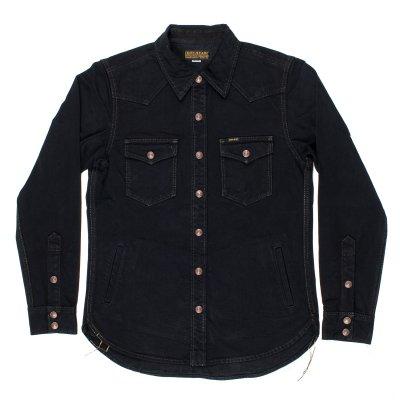 Black Overdyed 17oz Selvedge Denim CPO Style