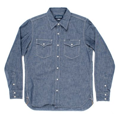 Indigo 10oz Selvedge Chambray Single Yoke Western