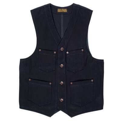 Double Indigo Duck Work Vest