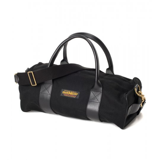 Leather and Super Black Denim Holdall