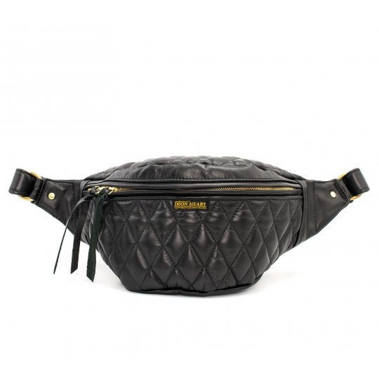 Diamond Stitched Leather Waist Bag