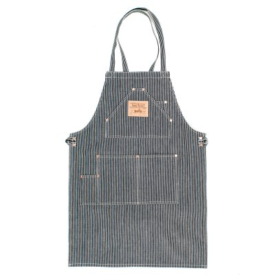 Indigo 18oz Hickory Stripe Work Apron