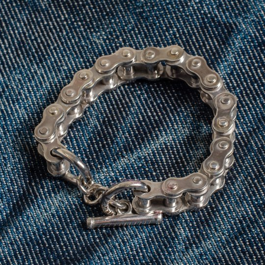 "Silver ""Motorcycle Chain"" Bracelet"