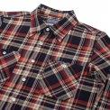 Indigo Dyed 10oz Check Selvedge Flannel Work Shirt