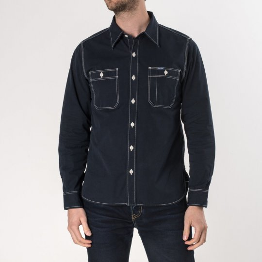 "Navy Blue ""Sailor Cloth"" Work Shirt"